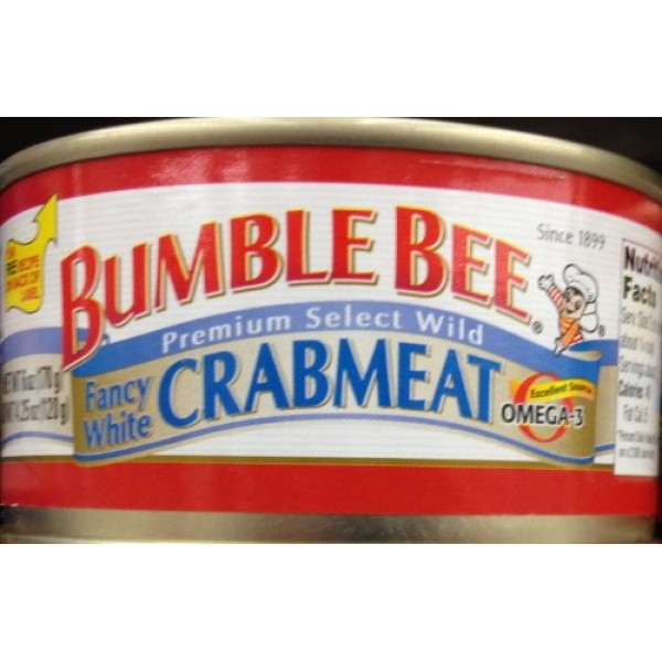 BUMBLE BEE Premium Select White CRABMEAT 6oz. 5 Cans