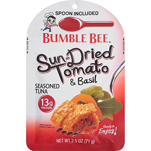 BUMBLE BEE Seasoned Tuna Pouch with Spoon tuna fish, Sun-Dried T...