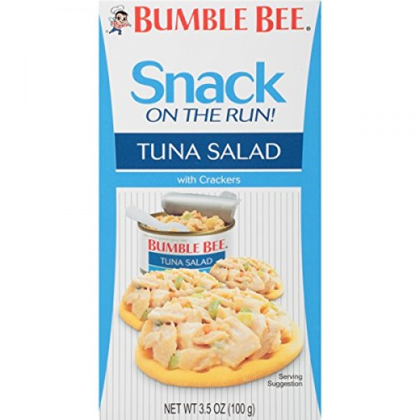 BUMBLE BEE Snack on the Run Tuna Salad with Crackers, Canned Tun...