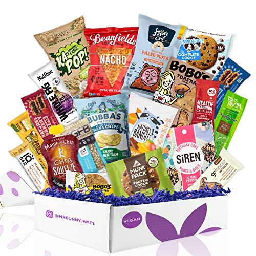 Healthy Vegan Snacks Care Package: Mix of Vegan Cookies, Protein...