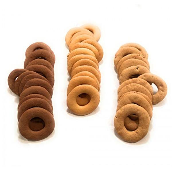 Burb Bakes - Biscotti Rings Gift Box - 3 Flavors - Original, Coc...