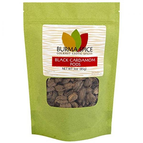 Black Cardamom Pods | Smokey, Dried, Indian Seasoning Spice | Ba...