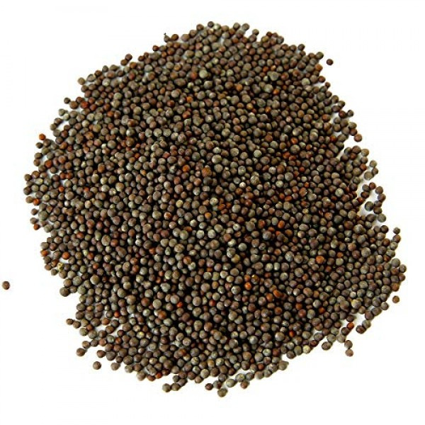 Brown Mustard Seed, Whole | Indian Mustard | Sharp Heat Flavor 9oz.