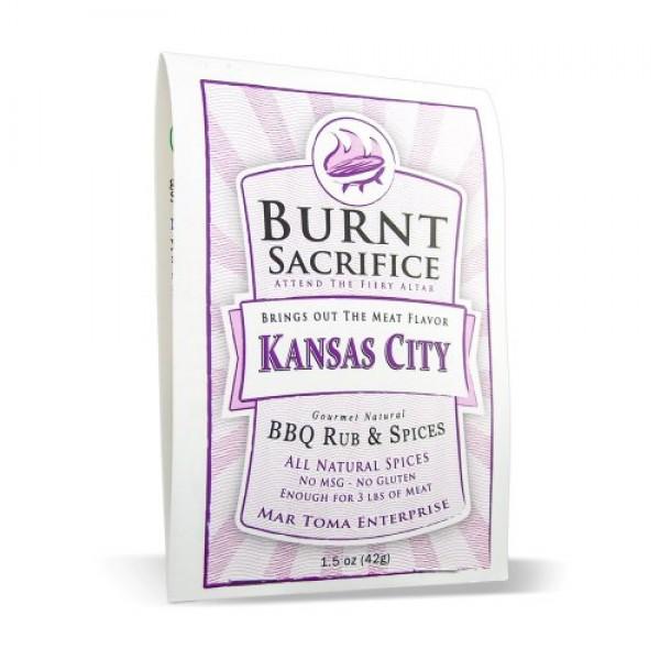Burnt Sacrifice Kansas City Style Gourmet BBQ Spice Dry Rub Seas...