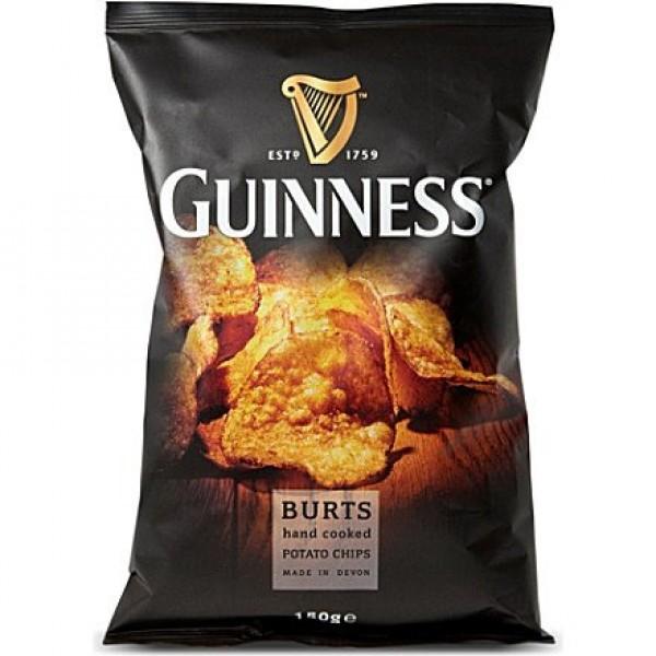 Burts Guinness Original Thick Cut Potato Chips, 5.3 Ounce