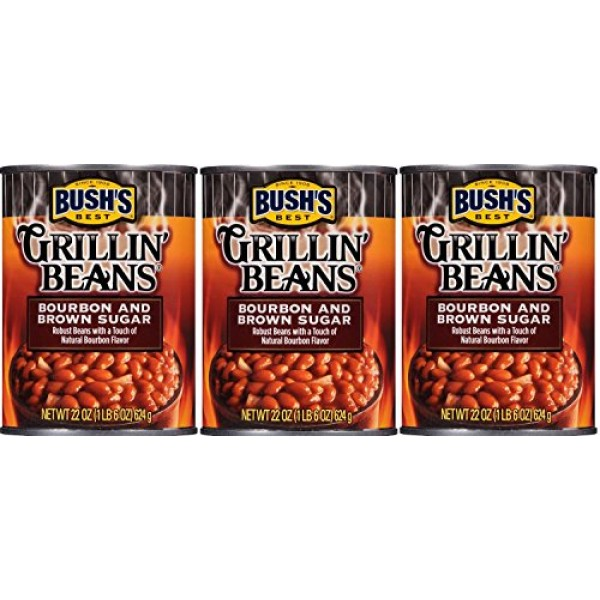 Bushs Best, Grillin Beans, Bourbon and Brown Sugar, 22oz. Can ...