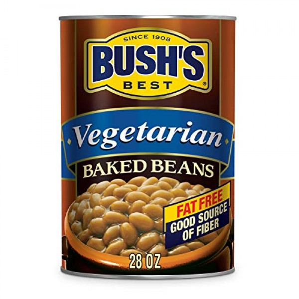 BUSHS BEST Baked Beans Vegetarian, 28 Ounce Can Pack of 12, w...