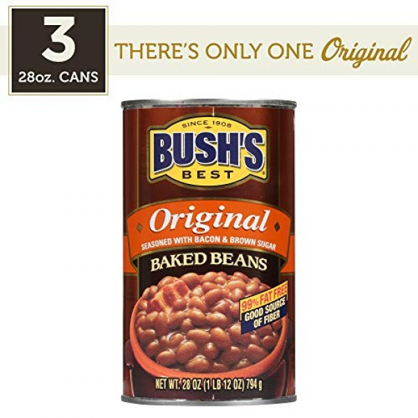 BUSHS BEST Original Baked Beans, 28 Ounce Can Pack of 3