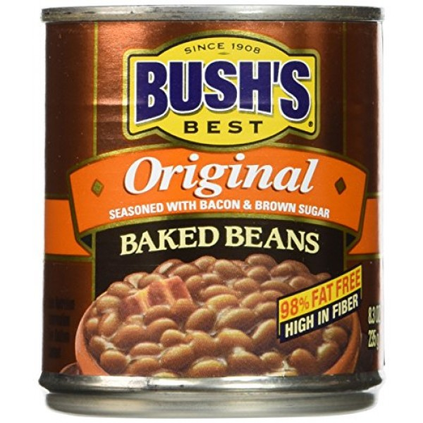BUSHS BEST Original Baked Beans, 8.3 Ounce Can Pack of 24, Ca...