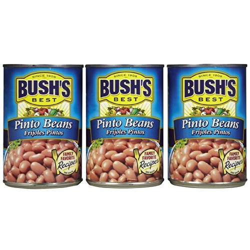 Bushs Best Pinto Beans -16 oz cans Pack of 3