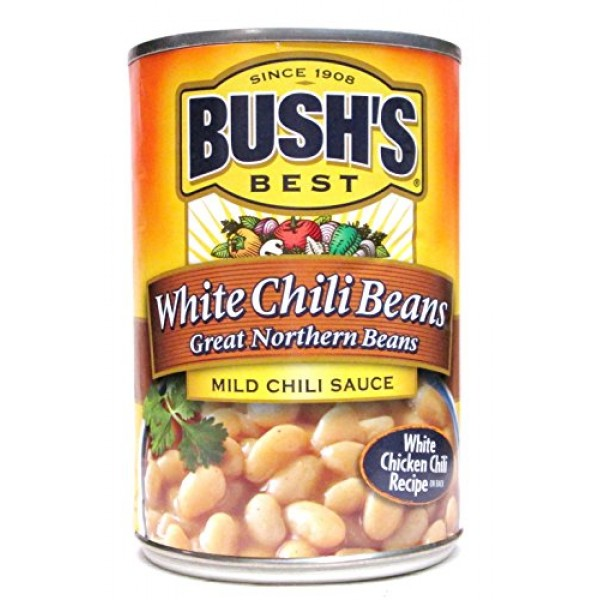 Bushs Chili Beans: Great Northern Beans in Mild Chili Sauce Pa...