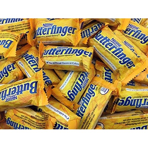 Butterfingers Candy, Nestle Butterfinger Snack Size Chocolate Ba...