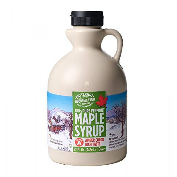 Butternut Mountain Farm, 100% Pure Maple Syrup From Vermont, Gra...