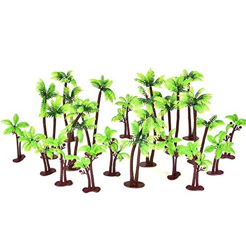 20 Pack Palm Tree Cake Topper for Cake Decoration - Buytra Green...