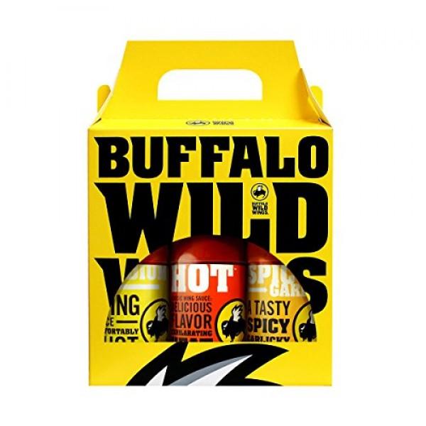 Buffalo Wild Wings Best Sellers Variety Pack Medium, Hot, Spicy...