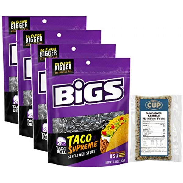 Taco Bell Taco Supreme Sunflower Seeds by BIGS, 5.35 Ounce Pack...