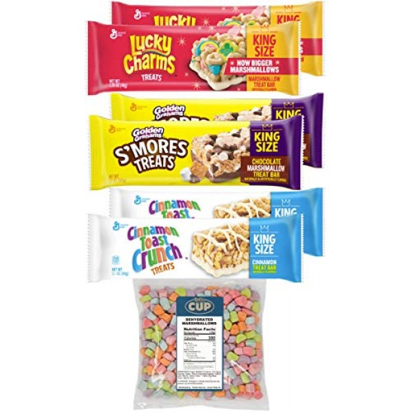 General Mills King Size Treat Bar Variety Pack, Lucky Charms, Go...