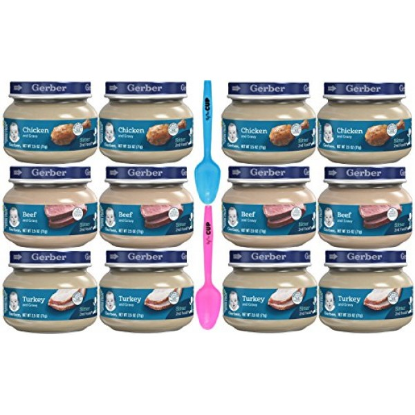 Gerber 2nd Foods Baby Food Variety Pack Includes Chicken, Turkey...