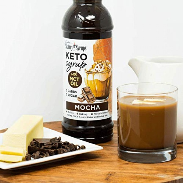 Jordans Skinny Syrups Keto Salted Caramel and Mocha with MCT Oi...