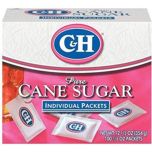 C&H, Cane Sugar, Sugar Packets, 12.5oz Box Pack of 2