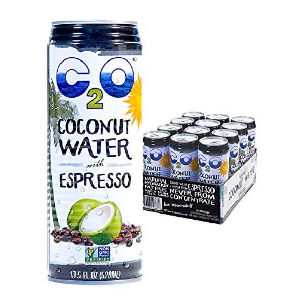 C2O Pure Coconut Water with Espresso, 17.5 OZ