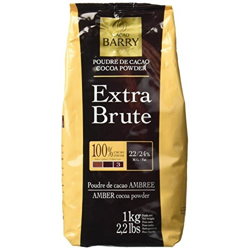 Cacao Barry Cocoa Powder - 100% Cacao - Extra Brute - Six 2.2 Bags