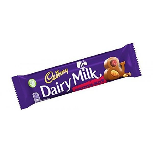 Cadbury Fruit & Nut Chocolate Bar 49g England 12 Pack