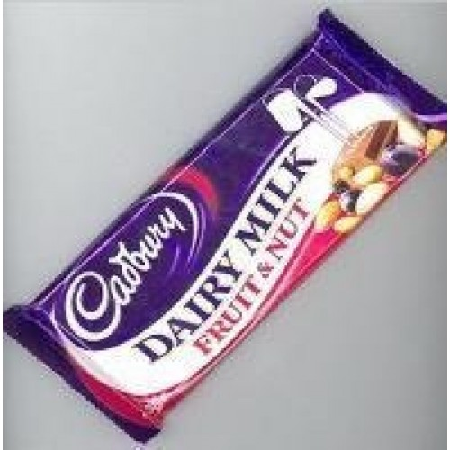 Cadbury Fruit & Nut. Case of 12 x 49g