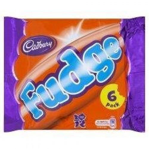Cadburys Fudge 6 Pack 156.7g - Pack of 6