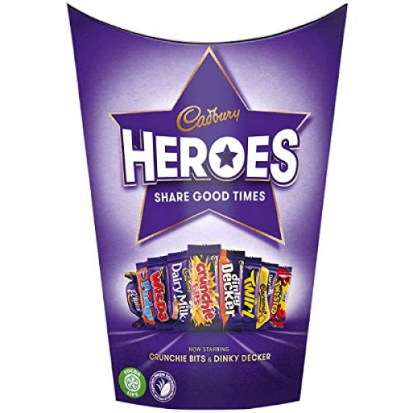 Cadburys Miniature Heroes Small - 185g - Pack of 2 185g x 2 Boxes