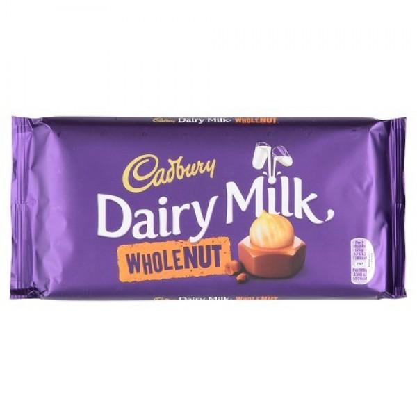 Cadbury Dairy Milk Wholenut Packet Plastic Hand Held Chocolate, ...