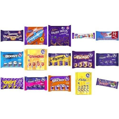 Cadbury Mega Pack. Includes 70 Bars of Chocolate; Diary Milk, Fr...