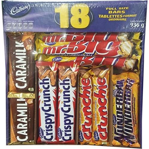 Cadbury 18 Full Size Assorted Chocolate Bars, Caramilk, Mr Big, ...
