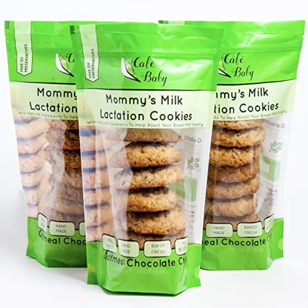 Café Baby Chocolate Chip Lactation Cookies for Breastfeeding | L...