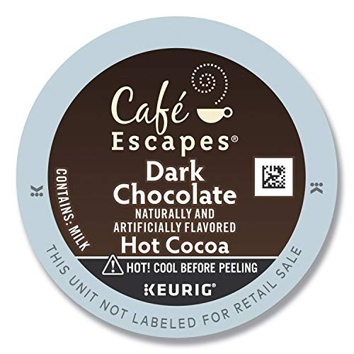 Café Escapes Hot Cocoa, Dark Chocolate, K-Cup Portion Pack for K...