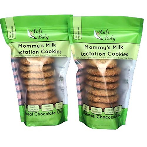 Lactation Cookies — Oatmeal Chocolate Chip By Cafe Baby. Lactati...