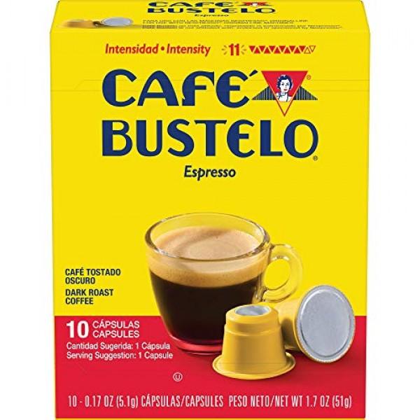 Café Bustelo Coffee Espresso Dark Roast Coffee, 40 Count Capsule...
