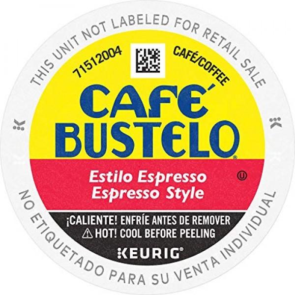 Café Bustelo Espresso Style Dark Roast Coffee, 72 K Cups for Keu...