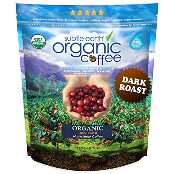 2LB Cafe Don Pablo Subtle Earth Organic Gourmet Coffee - Dark Ro...