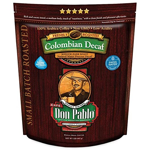 2LB Don Pablo Colombian Decaf - Swiss Water Process Decaffeinate...