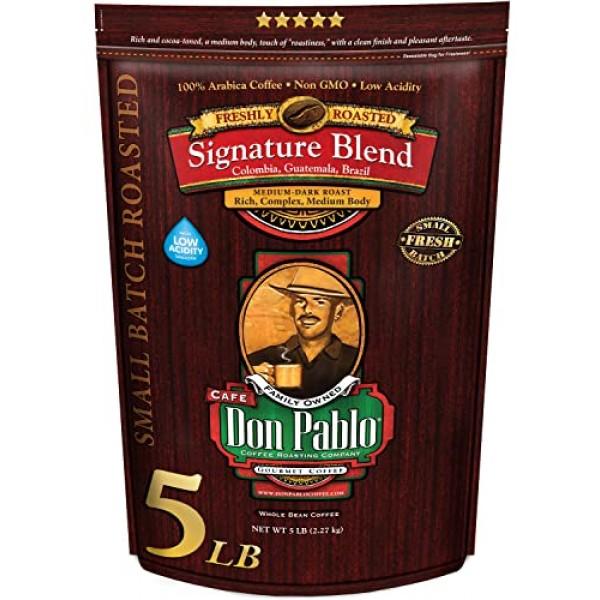 5LB Don Pablo Signature Blend - Medium-Dark Roast - Whole Bean C...