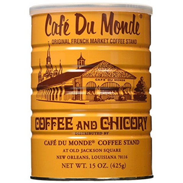 Cafe Du Monde Coffee Chicory, 15-Ounce Pack of 3