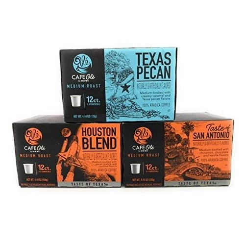 Cafe Ole Taste of Texas Gourmet Coffee K Cups Gift Assortment, 1...