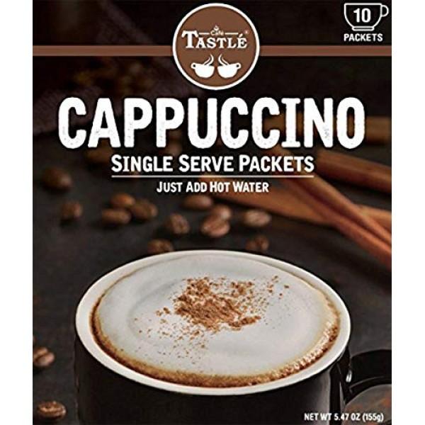 Cafe Tastlé Single Serve Cappuccino Coffee, 10 Count