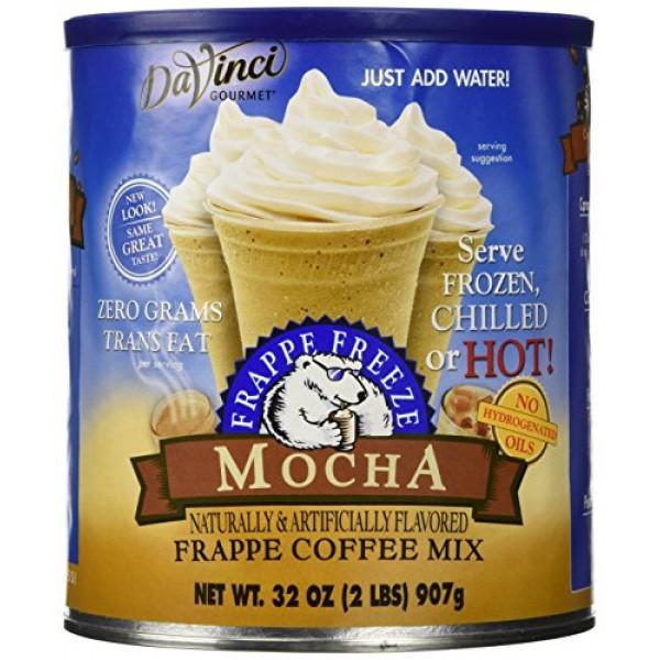 32oz Caffe DAmore Frappe Freeze Mocha Frappe Coffee Mix