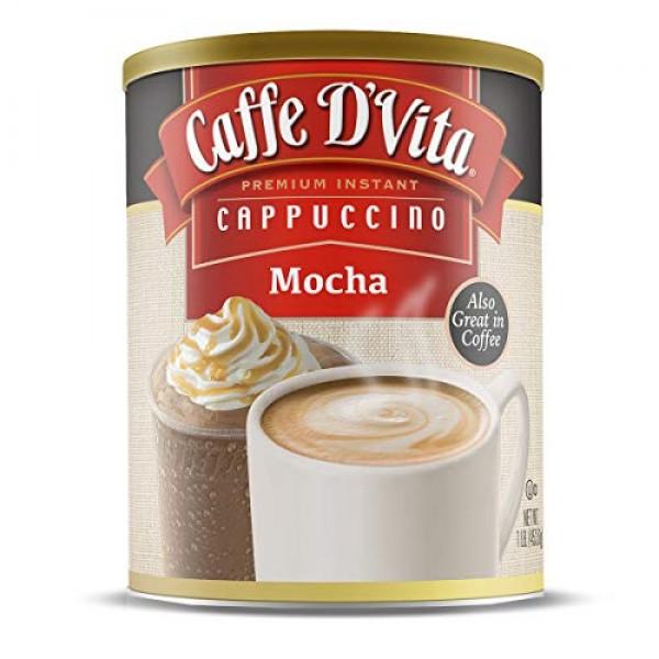 Caffe D'Vita Mocha Cappuccino 1 lb. can 16 oz.