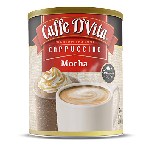 Caffe DVita Mocha Cappuccino, 16-Ounce Canisters Pack of 6