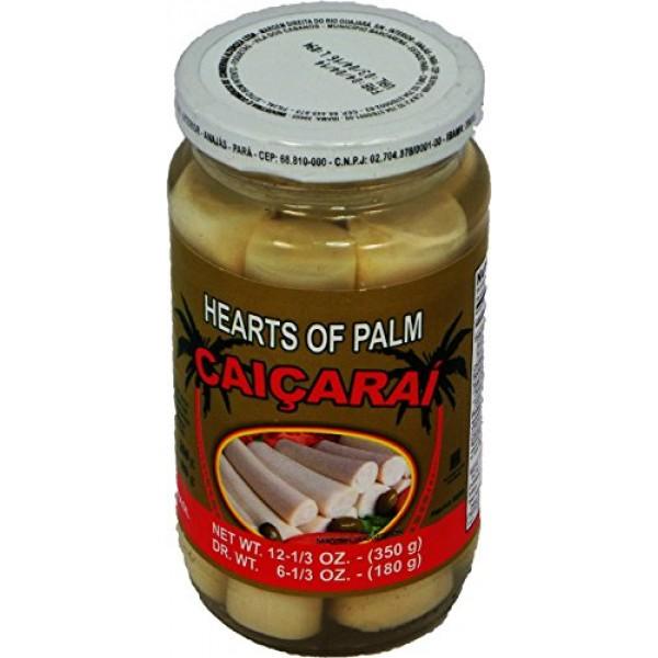 Caiçaraí - Hearts of Palm in a Glass Jar - Net Weight 12.34oz - ...