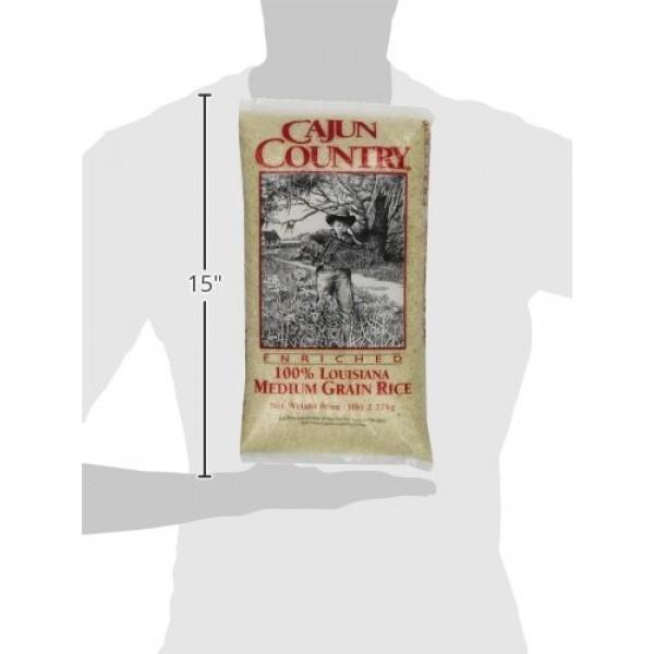 Cajun Country Medium Grain Rice, 5 Pound