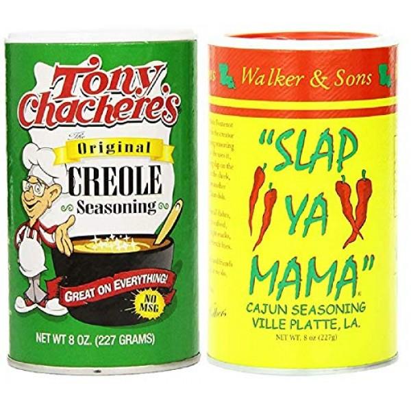 Louisiana Favorites No MSG Cajun Creole Seasoning Bundle - 1 eac...